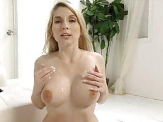Christie Stevens talking dirty while doing a handjob