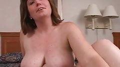 My wife with nice hangers