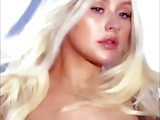 Christina Aguilera -nipples in see-through top, July 2018