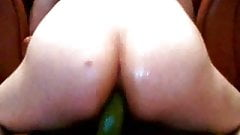 anal slut taking cucumber up my ass