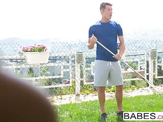 Preview 2 of Babes - Step Mom Lessons - Window Watching  starring  Nick G