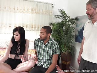 Charlotte Sartre Gets Stuffed With Black Cock As Hubby Watch