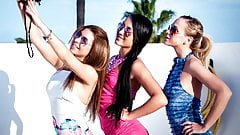 Hot lesbian babes - Ally Breelsen, Anna Rose,Cristal Caitlin