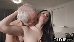 Teen mouth fucked hardcore takes cock deepthroat and gags's Thumb