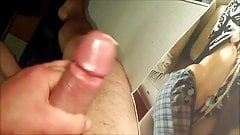 Cumming with a realy big load on Ilena
