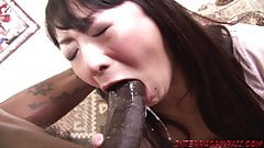 Asian wife hammered by big black cock and swallows's Thumb