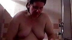 naked in shower