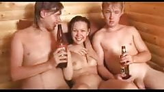 Amateur - Cutie Russian Teen MMF Threesome