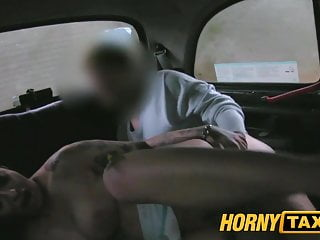 HornyTaxi Mature milf in backseat midnight fun