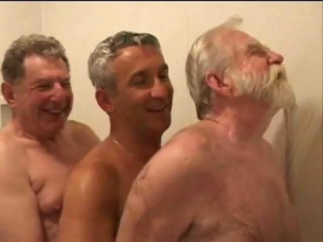 4 mature guys fucking in the woods