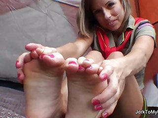 Girl Scout teases camp counselor with her Foot Fetish