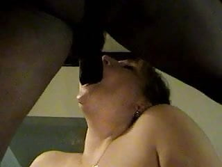 White slut loves her big black cock