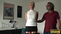 Busty brit roughly fucked in her mature cunt