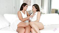 Lauren Minardi and Francesca Dicaprio - lesbian scene by