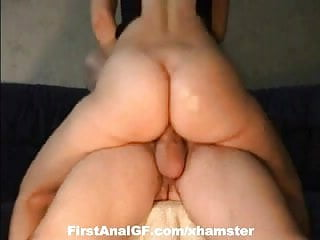 Sexy Blonde babe shows her ass fucking skills