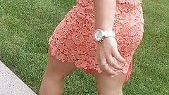 Thick Teen Legs and Ass in miniskirt