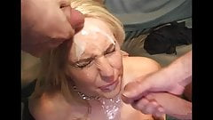 Double facial for blonde
