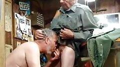 Daddy sucking grandpa