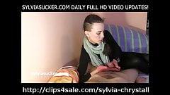 Hungarian CFNM Handjob from Sylvia Chrystall