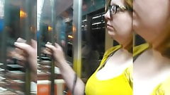 Candid Breast Watching (Yellow Top)