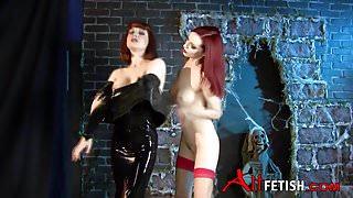 Angela Ryan and Emily Marilyn Latex Play
