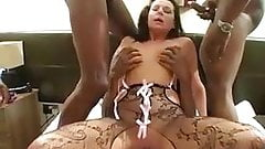 British MILF Carly G interracial gangbang