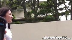 Shy Japanese schoolgirl filmed pissing loads outdoor's Thumb