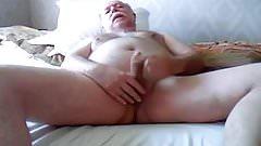 Grandpa masturbating in the bed