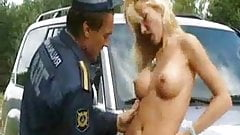 Russian policeman and blonde  FM14