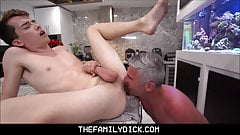 Bullied Twink Stepson Learns How To Fight And Family Fuck