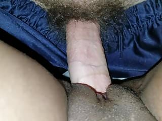 Going in raw on that perfect ebony pussy
