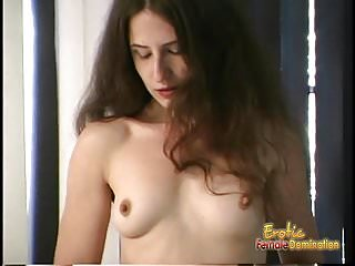 Download video bokep Raunchy brunette bint fingers her hairy twat and rams an ass Mp4 terbaru