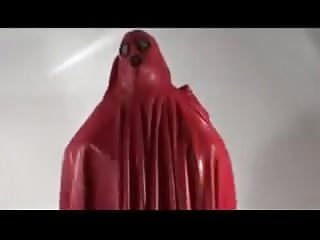 Preview 3 of Latex burqa red