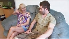Lucky guy fucks his girlfriends mature mother
