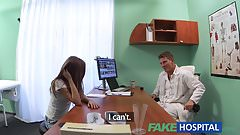 Fake Hospital Doctor fucks patients tight pussy