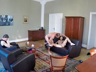 HUNT4K. Pleasuring my cock for money in front of her bf