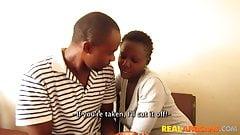 Horny Ebony Teen Couple First Time