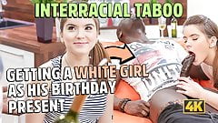 BLACK4K. Interracial love of tender teen Evelina Darling