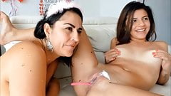 Horny Lesbians in a Sexy Pussy Play