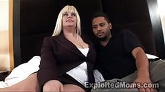 Busty BBW Mature in Interracial Video