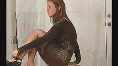 Christina model (bouncing boobs)