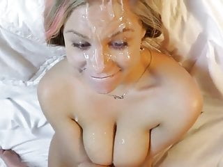 His girl's got cum all over her