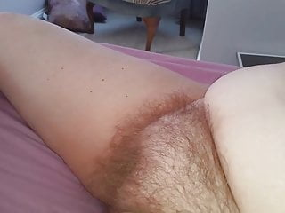 hairy pussy with her legs spread for my hard cock to enter