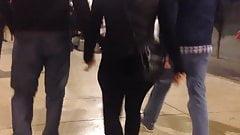 Big ass in black leggins, culito rico