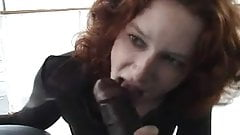 Skinny Pale Redhead Jesmi Gets Two BBCs