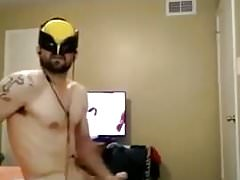 Mask, big cock, cuming guy