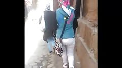 hijab candid ass in the street (egyptian streets)