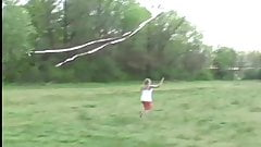 Come out in the field and help me fly my new kite