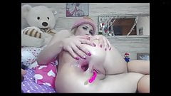 Blonde webcam girl gape and creampie's Thumb