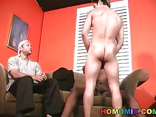 Preview 3 of Horny white dude gets black cock insertion